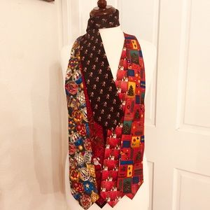 Lot of 5 Christmas novelty ties